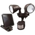 Solar security light motion sensor activated