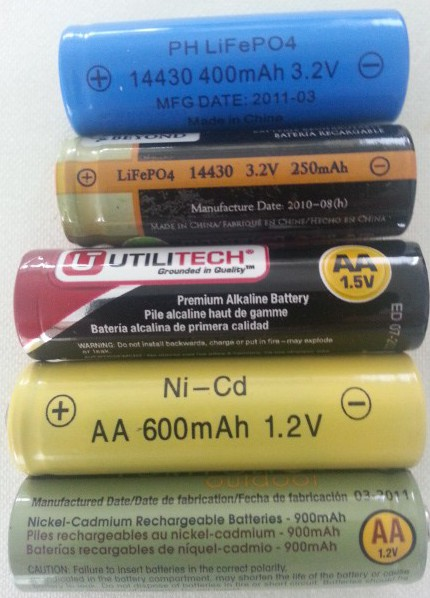 AA rechargeable solar batteries