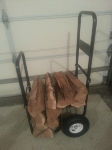 Firewood log cart