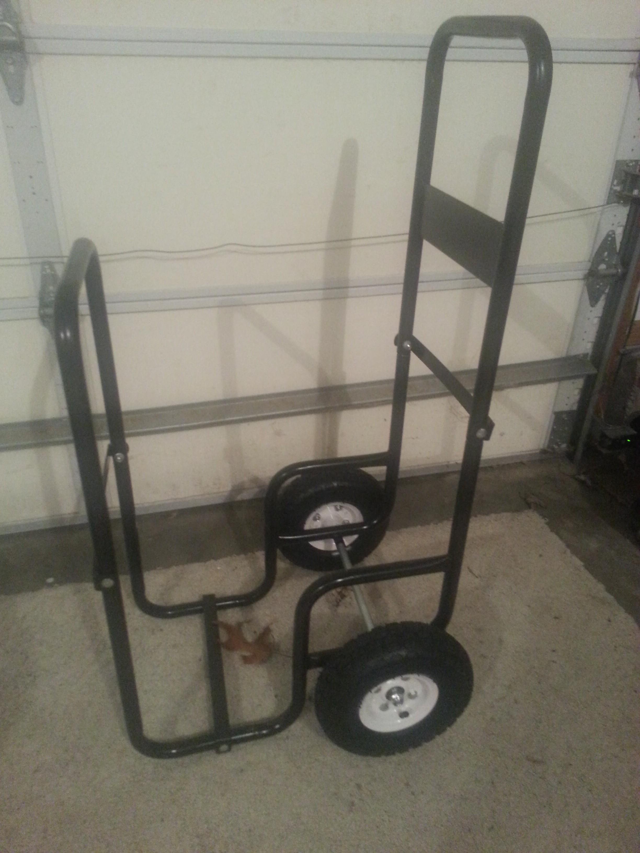 Assembled Log Rack Cart