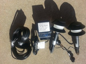 Layout Landscape Lighting-Low voltage lights kit