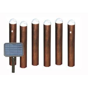 Solar bollard light set