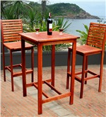 Wooden Outdoor Table and Chairs-Outdoor Wooden Pub Table