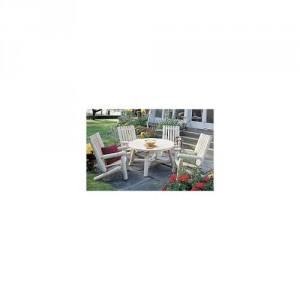 cedar table and chair
