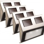 solar step lights set of four
