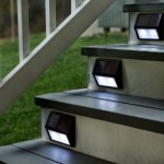 Set of four Solar Lights for Steps