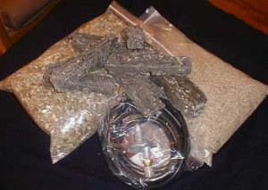 Gas conversion kit for Chimenea