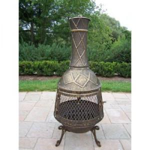 Outdoor cast iron chimenea