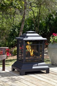 Rectangular Pagoda Patio Firepit