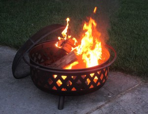 Best Outdoor Fire Pits-Oil Rubbed Bronze wood burner