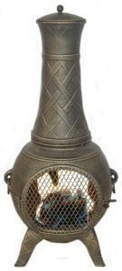 Best Outdoor Fire Pits-Western Basket Weave Chimenea