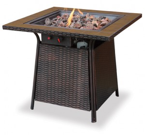 Best Outdoor Fire Pits-Outdoor LP Gas Tile Fire Pit