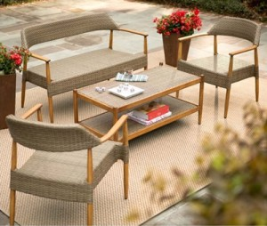 Outdoor Wicker Patio Furniture Sets-Chatham four piece Wicker Set