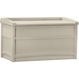 Suncast 50 Gallon Outdoor Storage Bench For Seating