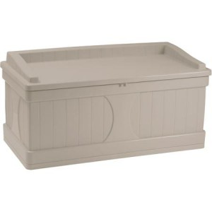 Suncast 99 Gallon Outdoor Storage Bench For Seating