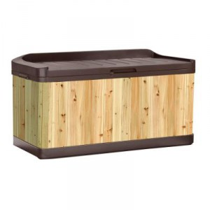 Wooden and Resin Outdoor Storage Bench For Seating