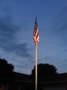 Illumination of my American Flag