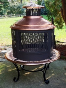 Copper 3 in 1 Chimenea