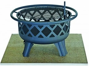 Fire Pit on DeckProtect board