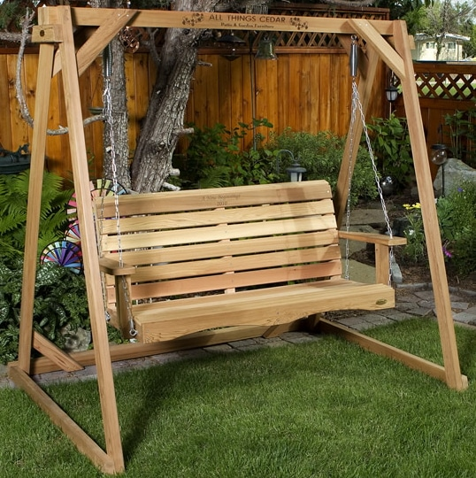 Four designs of Cedar Wood Outdoor Furniture