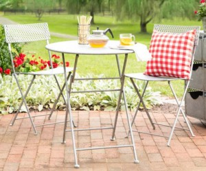 Faux Metal Bistro Set
