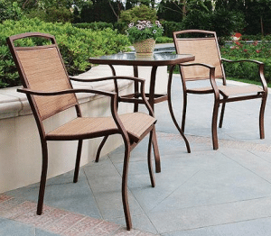 Mainstays Sand Dune outdoor bistro table and chairs set