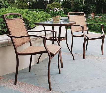 Mainstays Sand Dune 3-Piece Outdoor Bistro Table and Chairs Review