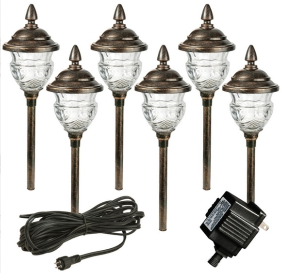 Four complete Low Voltage Outdoor Lighting Sets