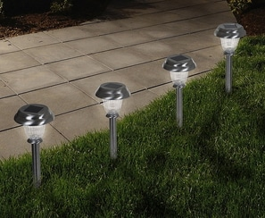 Outdoor Solar Post Lights in sets