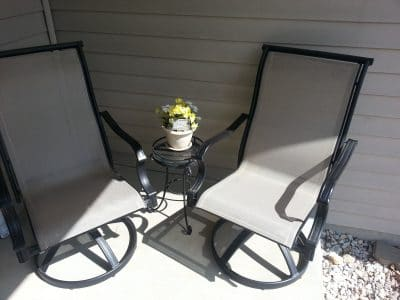 Metal Table Chairs