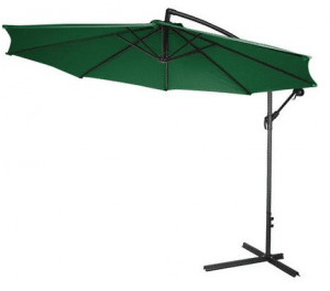 Large Patio Umbrellas with Cantilever-10 foot Deluxe Offset Umbrella