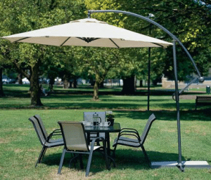 Large Patio Umbrellas with Cantilever-Coolaroo 10 foot Offset Umbrella