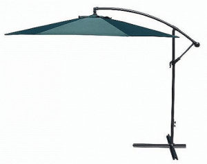 Large Patio Umbrellas with Cantilever-Jordan 10 ft Offset Umbrella Green