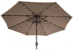 Solar Powered Lighted Umbrella