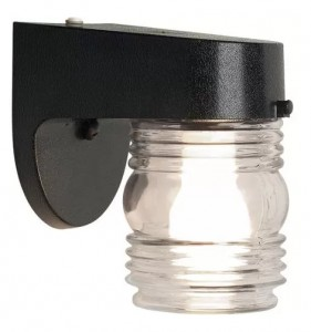 Brinks dusk dawn outdoor lighting Jelly Jar Light Fixture