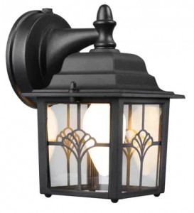 Hampton Dusk Dawn Lantern Wall Fixture