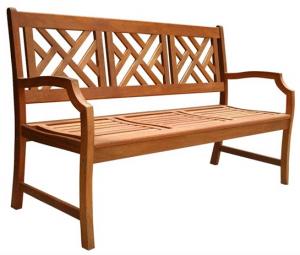 Eucalyptus 3 seat Outdoor Bench