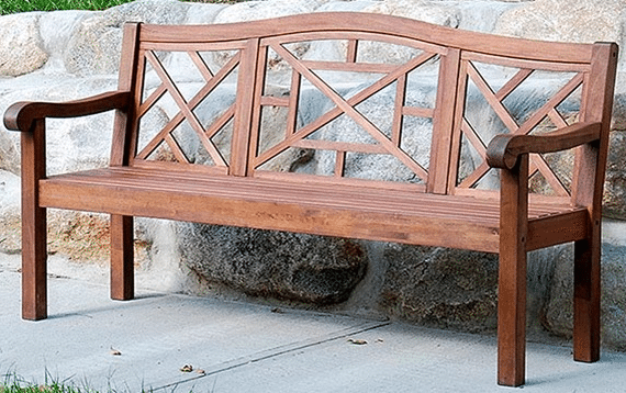 Outdoor Patio Benches made from Eucalyptus Wood