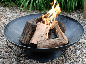 Extra Large Black Metal Backyard Fire Pit