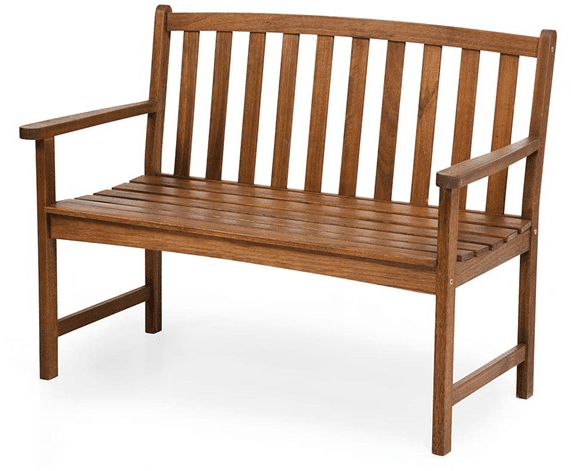 Lancaster collection outdoor eucalyptus bench