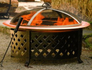 Lattice Side Backyard Fire Pit