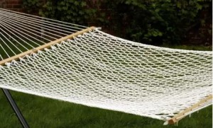 Garden Furniture with Swing Seat-Bliss 2-Person Polyester Hammock