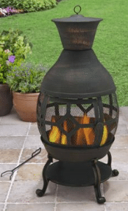 Better Homes and Gardens Cast Iron Assembly of a Metal Chiminea Outdoor Fireplace