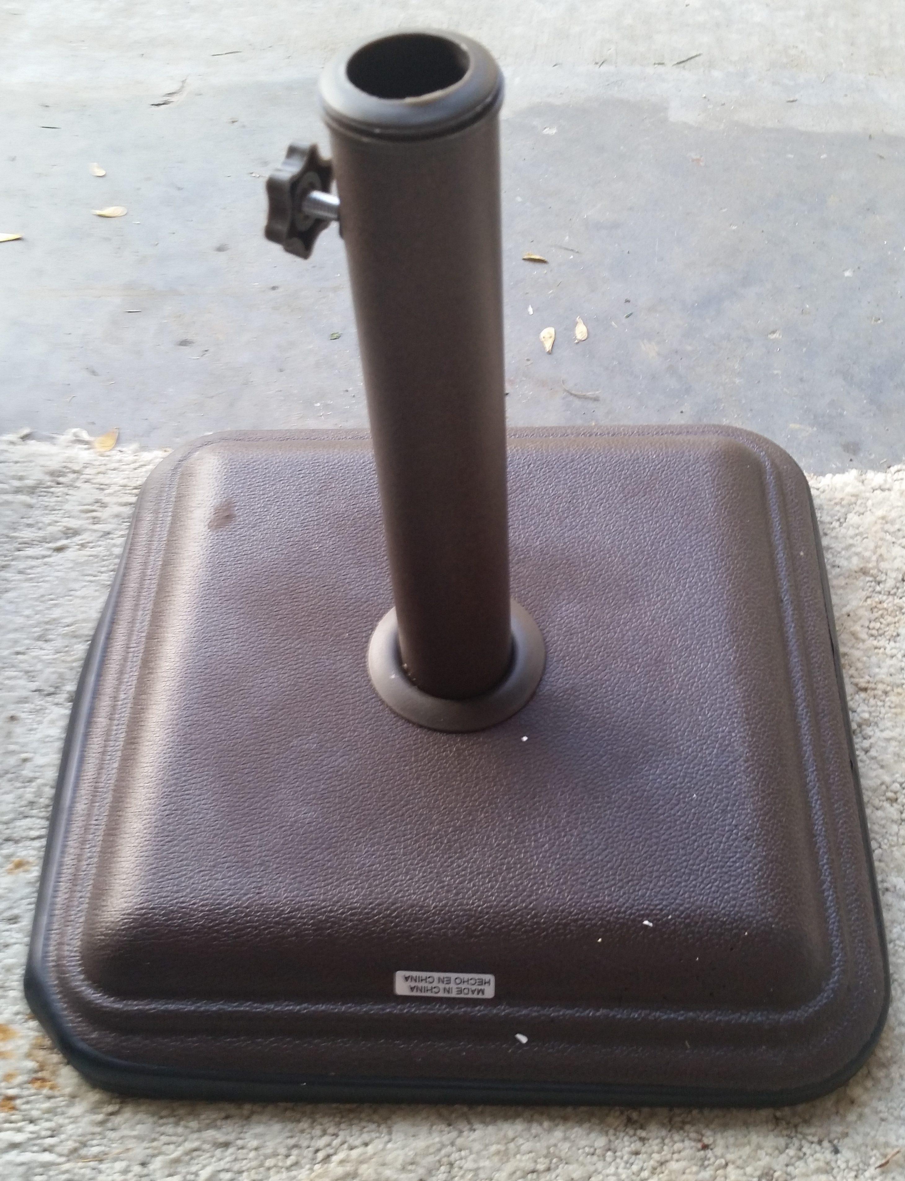 Patio Table Umbrella Stand Concrete