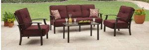 Carter Hills four piece Conversation Set-Burgandy