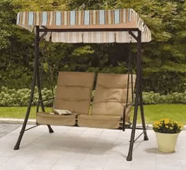Richland Landing 2 seat Swing with Canopy and Ottoman