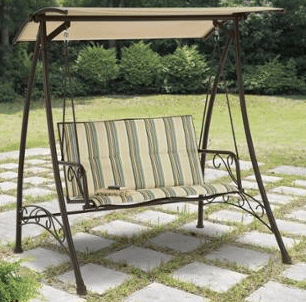 Stripped 2 seat Swing with Canopy