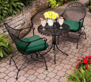 Clayton Court outdoor bistro table chairs set