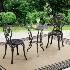 Retro Cast Iron Patio Bistro sets