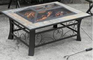 Granada Rectangular Slate Fire Pit